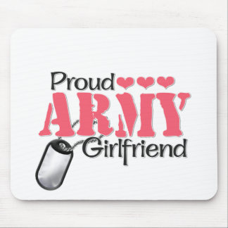 Army Girlfriend Mouse Pad