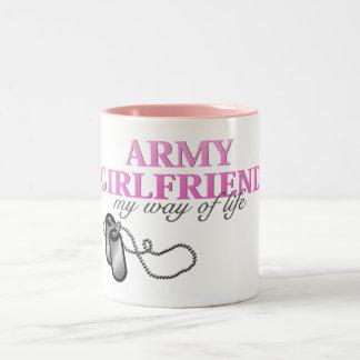 Army Girlfriend, my way of life Mugs