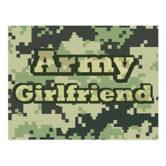 Army Girlfriend Postcard