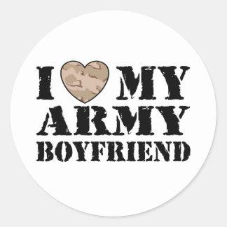 Army Girlfriend Round Sticker