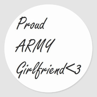Army Girlfriend Stickers