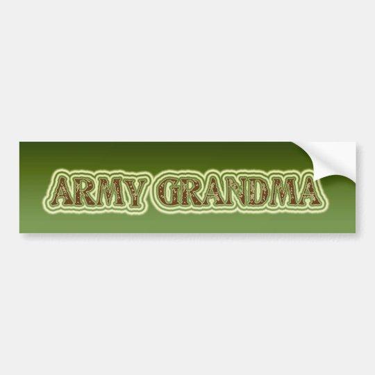 Army Grandma Bumper Sticker