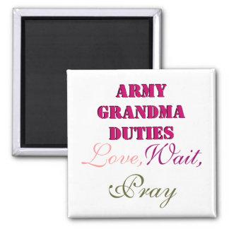 ARMY GRANDMA DUTIES MAGNET