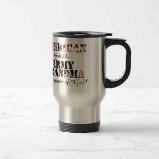 Army Grandma Grace of God Travel Mug