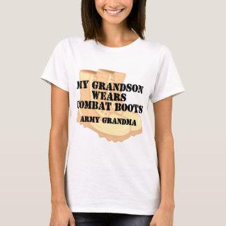 Army Grandma Grandson Desert Combat Boots T-Shirt
