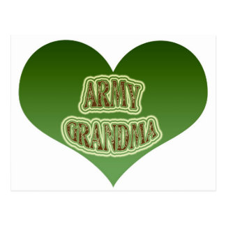 Army Grandma Postcard