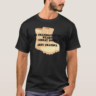 Army Grandpa Granddaughter Desert Combat Boots T-Shirt