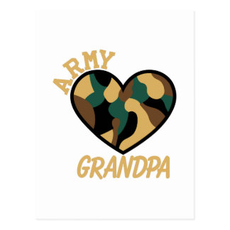 Army Grandpa Postcard