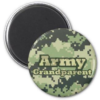 Army Grandparent 6 Cm Round Magnet