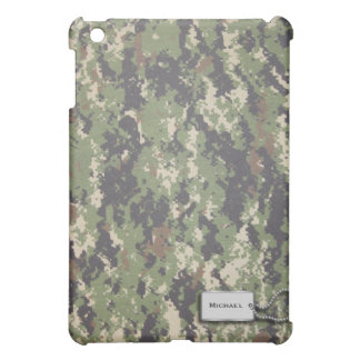 Army Green and Brown Digital Military Camouflage iPad Mini Cases
