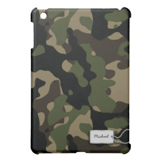 Army Green and Brown Military Camouflage iPad Mini Covers