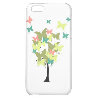 Army Green Butterfly Tree iPhone 5C Cases