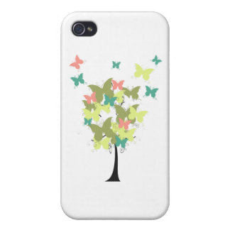 Army Green Butterfly Tree Cases For iPhone 4