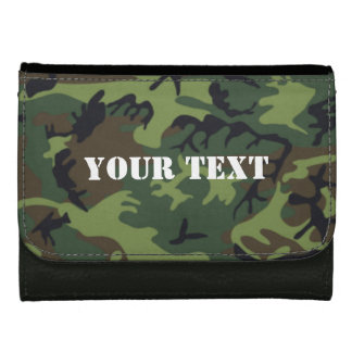 Army green camo wallet