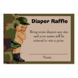 Army Green Camouflage Diaper Raffle Insert Pack Of Chubby Business Cards