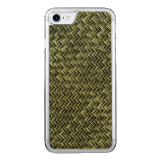 Army Green Diagonal Basket Weave Geometric Pattern Carved iPhone 8/7 Case