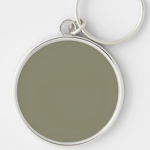 Army Green French Grey 6a Color Only Key Chains