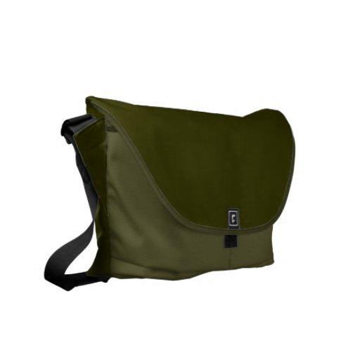 Army Green Moss Messenger Bag