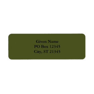 Army Green Return Address Label