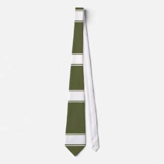 Army Green with white line Tie