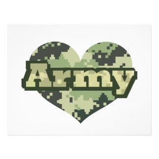 Army Heart 21.5 Cm X 28 Cm Flyer