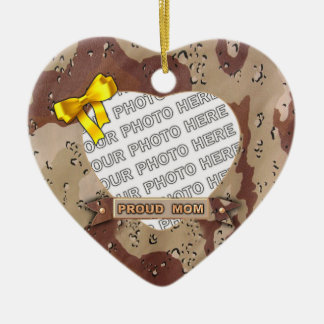 Army Heart Photo Ornament