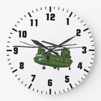 army helicopter at war clock