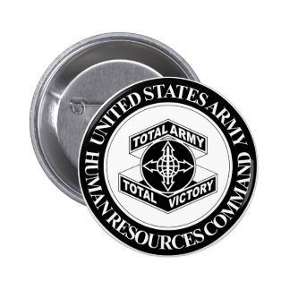 Army Human Resources Command - BW 6 Cm Round Badge