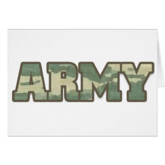Army in camo card