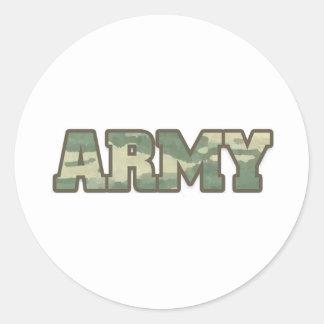 Army in camo round sticker