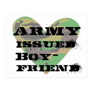 Army Issued Boyfriend Postcard