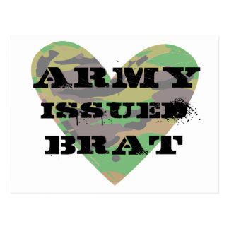 Army Issued Brat Postcard