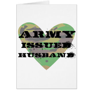 Army Issued Husband Greeting Card