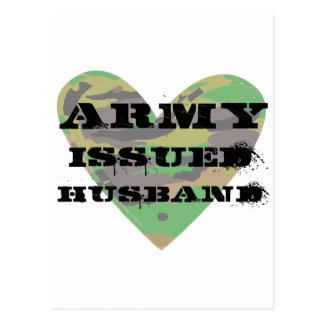 Army Issued Husband Postcard