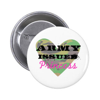 Army Issued Princess Pinback Buttons