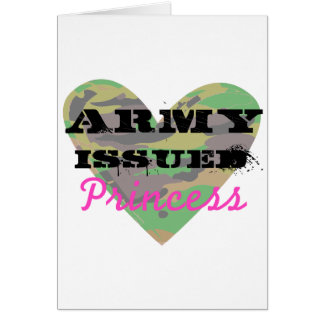 Army Issued Princess Greeting Card