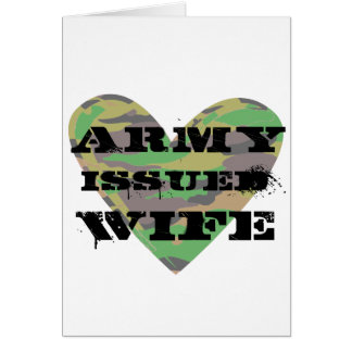 Army Issued Wife Greeting Card