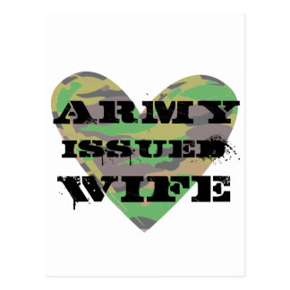 Army Issued Wife Postcard