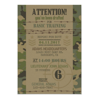 Army Jungle Camouflage Military Birthday Card