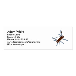 Army knife business card template