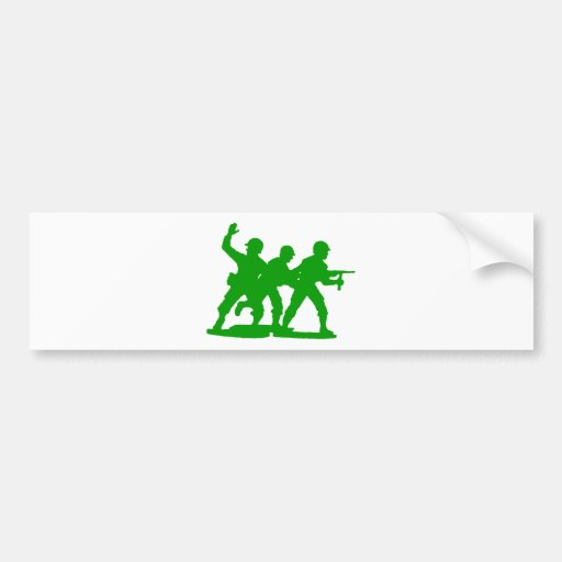 Army Men Squad Car Bumper Sticker