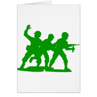 Army Men Squad Greeting Cards