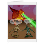 Army men working together greeting card