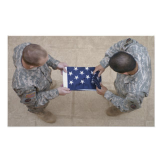 Army Military Flag Poster