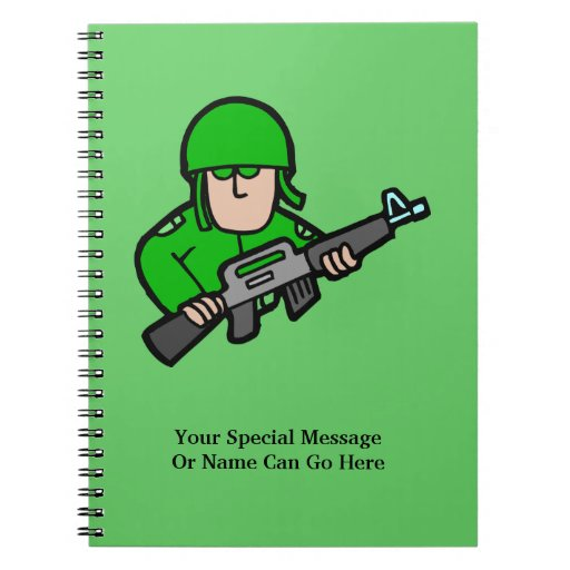Army Military Soldier Camo Green Designer Art Note Books