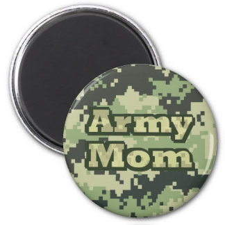 Army Mom 6 Cm Round Magnet