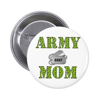 Army Mom Pinback Buttons