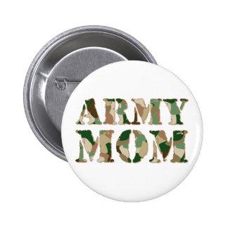 Army Mom camo 6 Cm Round Badge