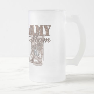 Army Mom Combat Boots N Dog Tags 1 Frosted Glass Mug
