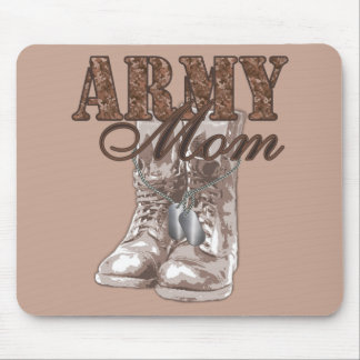 Army Mom Combat Boots N Dog Tags 1 Mouse Mat